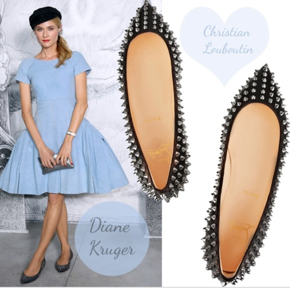 christian louboutin pigalle spikes flat